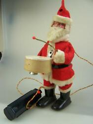 Vintage C1960's Mechanical Battery Operated Walking Santa Father Christmas