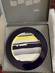 Set Of 4 Plates By Roy Lichtenstein On Rosenthal Porcelain-signed 1990