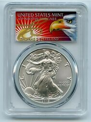 2019 Ase 1 Pcgs Ms70 Fs 1 Of 1000 Thomas Cleveland 1oz .999 Silver Coin
