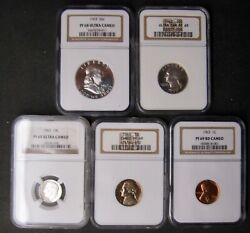 1963 Ultra Cameo Proof Set..ranked 7 In The Ngc Set Registry...very Rare