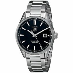 Tag Heuer War211a.ba0782 Carrera 38mm Men's Automatic Stainless Steel Watch