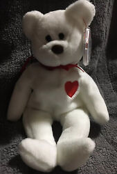 Valentino The Bear Beanie Baby 94/93 Pvc Pellets Brown Nose Tag Errors Rare