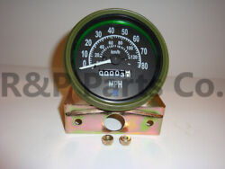 Speedometer Gauge For Willys Mb Jeep Ford Cj Gpw Olive Bezel 80 Mph