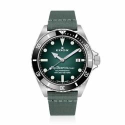 Edox Skydiver Military Limited Edition 42 Mm Ref. 80115-3n-vd New