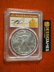 2019 W Burnished Silver Eagle Pcgs Sp70 Cleveland First Day Of Issue Art Deco