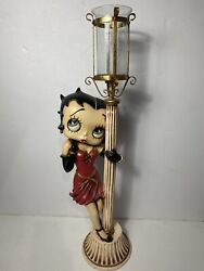 """33"""" Betty Boop Lamp Light Post Candle Holder Statue 2000 Universal"""