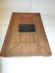 Private Journal G.d. Coleman 1852 - Signed 1853 - Lebanon County Pa