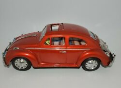 Vintage Red Volkswagen Vw Bug Sign Of Quality Made In Japan Tin Toy 14
