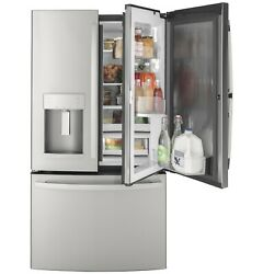 Ge Gfd28gynbfs 36 Stainless French Door Refrigerator Nob