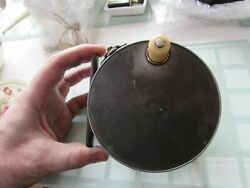 Excellent Vintage Hardy Alnwick Early 1912 Perfect Salmon Fly Fishing Reel 4.5