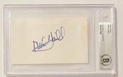 Mark Hamill Signed Autographed 3x5 Card Bas Beckett Certified Slabbed Star Wars