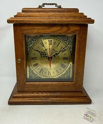 Amish Crafted Antique Shelf Clock - Oak Wood With Michael's Cherry Stain - New