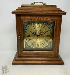 Amish Crafted Antique Shelf Clock - Elm Wood With Michael's Cherry Stain - New