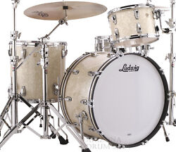 Ludwig Classic Mapie Vintage White Marine 3-pc. Pro Beat Shell Pack, 24/13/16