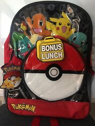 Pokemon Backpack with Detachable Lunch Box Bag NWT $20.00