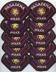 Pasadena Texas Tx Patch Lot Trade Stock 10 Police Patches Police Patch