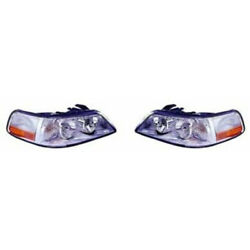 Fits Lincoln Town Car Headlight 2003 2004 Pair Side Hid Fo2502185 + Fo2503185