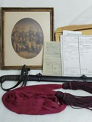 Cival War Union Army Sword And Scabbard With All Of The Service Records