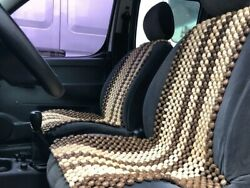 2 Pcs Natural Wooden Beaded Car Seat Chair Cover Massage Cool Cushion + Back