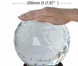 Clear Cut Crystal Sphere 50-200mm Faceted Gazing Ball Prisms Suncatcher Home