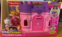 New Fisher-price Little People Play'n Go Castle Pink Retired, Vhtf Toys R Us