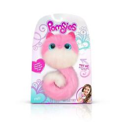 Pomsies Pet Pinky Plush Interactive Toy Touch Sensors Over 50 Cute Sounds Discon