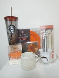 Starbucks Limited Halloween Mug Party Pack Set Cold Cup Tumbler Set 8 Items