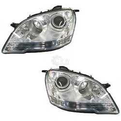 Xenon Headlight Set Led With Motor For Mercedes M Class W164 Yr 1.08-12.11