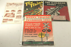 4pc 1950s 1960s Toy Train Catalogs Yearbook + Railroad Story Super References