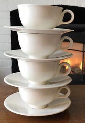 4 Classic Century / Eva Zeisel By Crate And Barrel Coffee Cup And Saucer