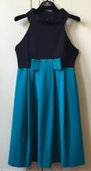 Alice San Diego Dress 50andrsquos Vintage Jackie Kennedy Style Green Natural Fabric Bow