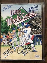 Tommy Lasorda Kirk Gibson And Hershieser Signed 1988 Dodgers World Series Program