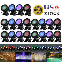 Lots Auto 7modes Submersible 36 Led Rgb Pond Spot Lights For Underwater Fountain