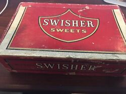Vintage Swisher Sweets 5 Cent Advertising Cigar Box