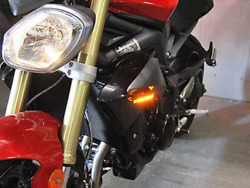 New Rage Cycles Triumph Street Triple Led Front Turn Signals 2013 Andndash 2017
