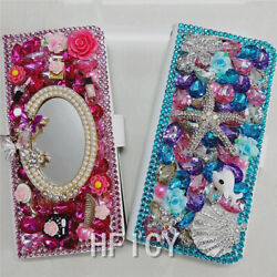 For Zte Avid 579 Z5156cc A3 A5 A7 Power Bling Luxury Leather Wallet Cover Case