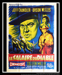 The Man In The Shadow 4x6 Ft Vintage French Grande Original Movie Poster 1957