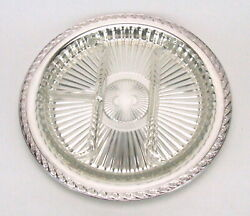 Wm Rogers And Son Spring Flower 2055 Engraved Tray Glass Relish Dish Insert Nib