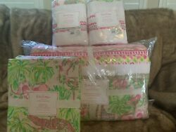 Pottery Barn Kids Lilly Pulitzer Quilt Patchwork In On Parade Full Sheet Shams