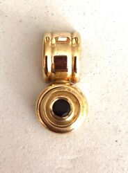 Solid 14k Yellow Gold And Garnet Pendant- Please See Other Jewelry And Coins