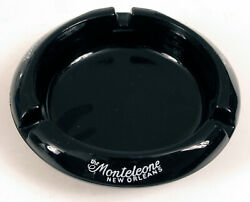Hotel Monteleone Heavy Solid Triple Signed Ashtray New Orleans French Quarter