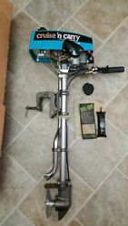 Cruise N Carry Outboard 2 Cycle Boat Motor. Model 6600. New