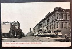 K Street Looking East From Ninth Street Sacramento California Litho