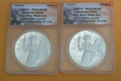 2016 W And S American Silver Liberty Medal Anacs Pr70 First Strike