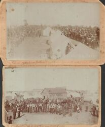 W A Flower / Oklahoma Territory Land Run Of 1893 Cabinet Cards