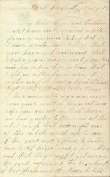 Civil War Pow Letter From Charles Saye To His Wife November 1863 / Signed