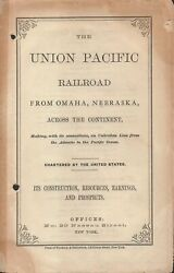Union Pacific Railroad From Omaha Nebraska Across The Continent Making With Its