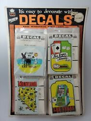 Impko Decals Store Display Las Vegas 100 Decals On Card Made In Usa Rare