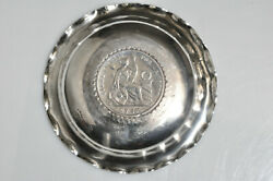 Vintage South American Lima Peru 925 Silver Ashtray 1874 Old Coin