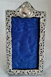 Antique Photograph Frame .sterling Silver Mount. Birmingham 1904 By H V Pithey